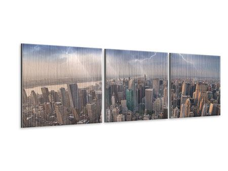 Panorama Metallic-Bild 3-teilig Manhattan