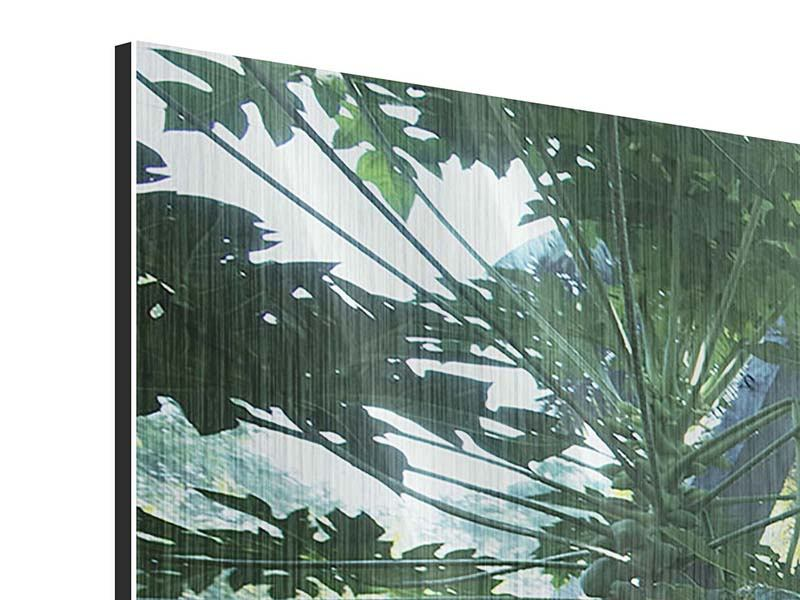 Panorama Metallic-Bild 3-teilig Dschungelstar
