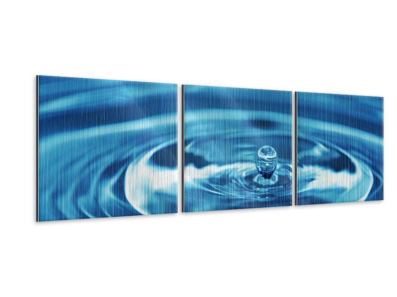 Panorama Metallic-Bild 3-teilig Der Wassertropfen
