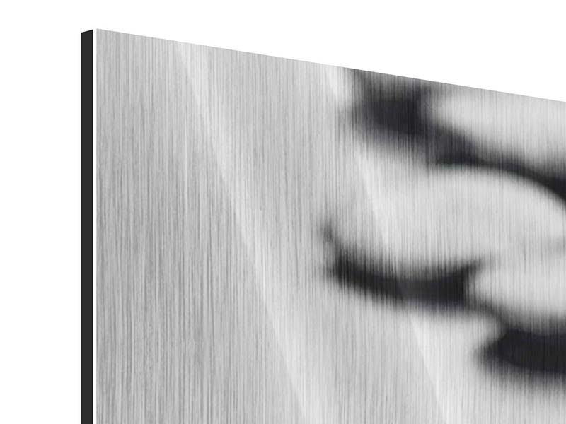 Panorama Metallic-Bild 3-teilig Polierte Steine