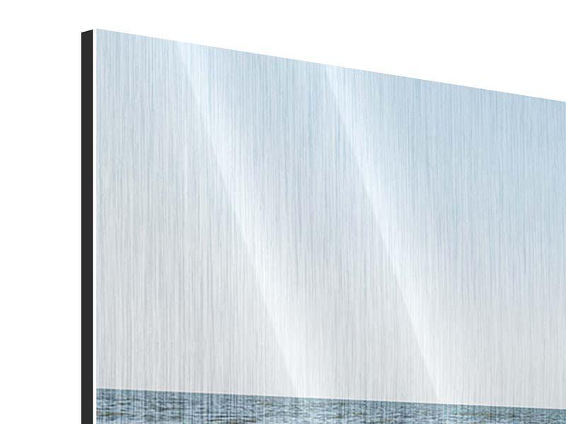 Panorama Metallic-Bild 3-teilig Sandspuren