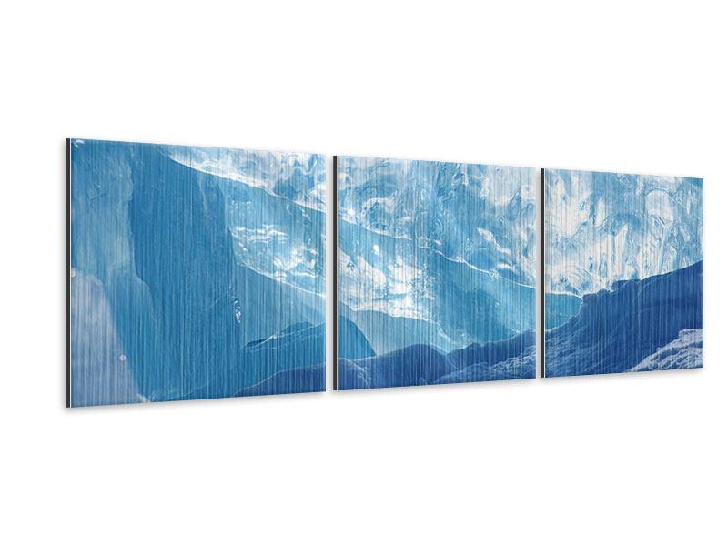 Panorama Metallic-Bild 3-teilig Baikalsee-Eis