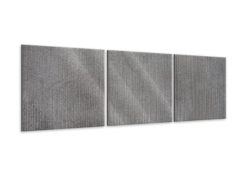 Panorama Metallic-Bild 3-teilig Beton in Dunkelgrau