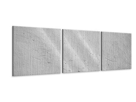 Panorama Metallic-Bild 3-teilig Beton