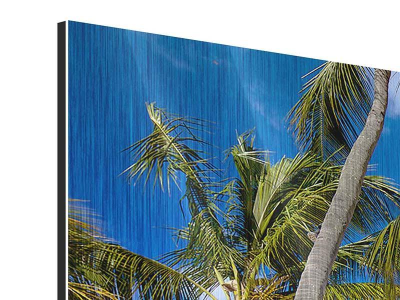 Panorama Metallic-Bild 3-teilig Mauritius