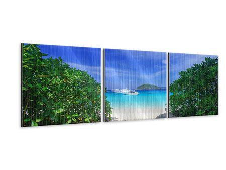 Panorama Metallic-Bild 3-teilig Similan-Inseln