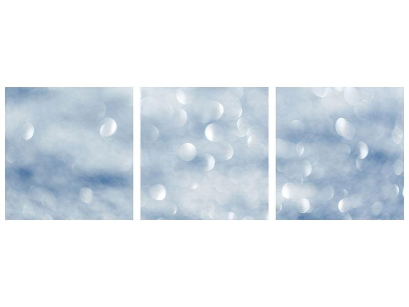 Panorama Metallic-Bild 3-teilig Kristallglanz