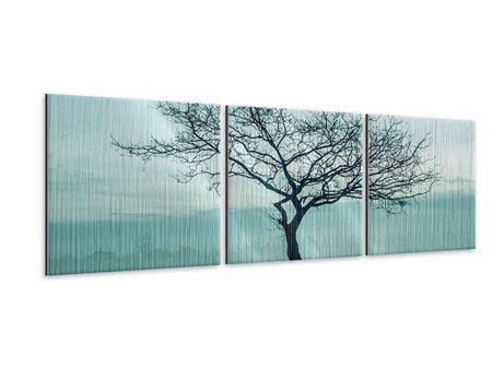 Panorama Metallic-Bild 3-teilig Der Zauberbaum