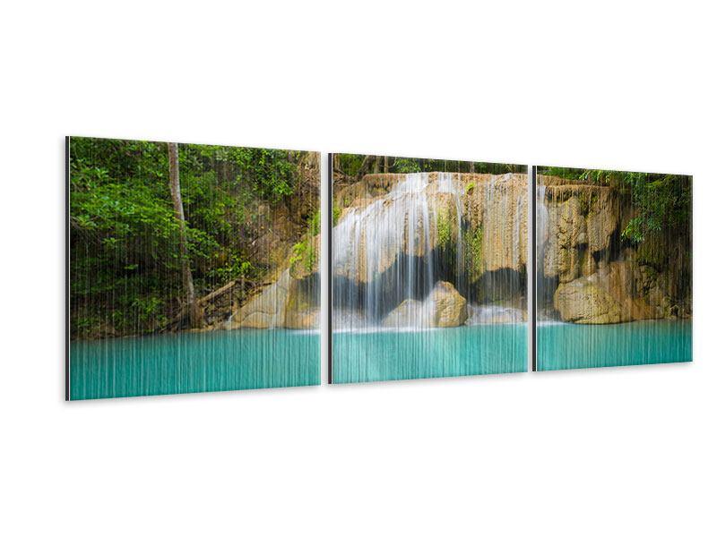Panorama Metallic-Bild 3-teilig Frische Brise