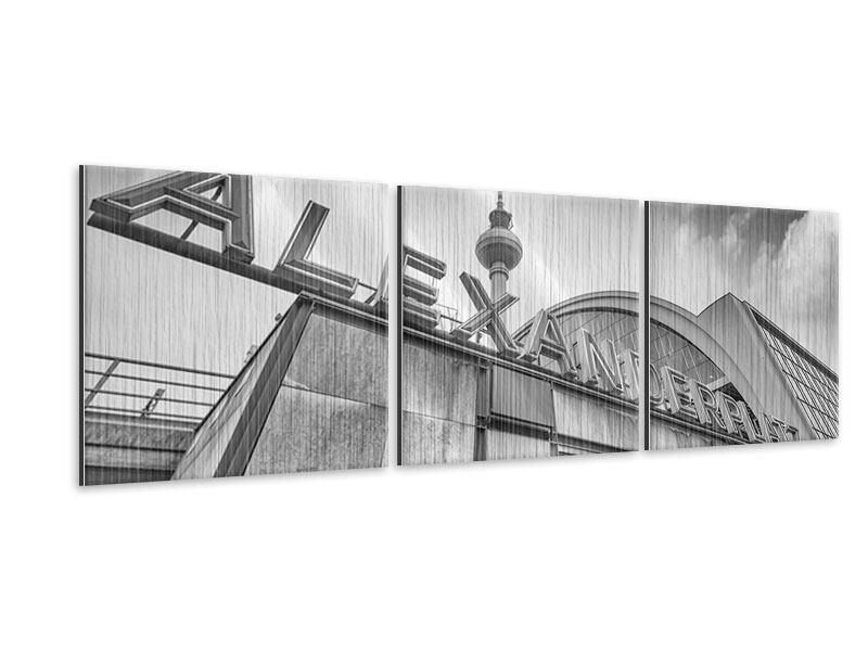 Panorama Metallic-Bild 3-teilig Alexanderplatz