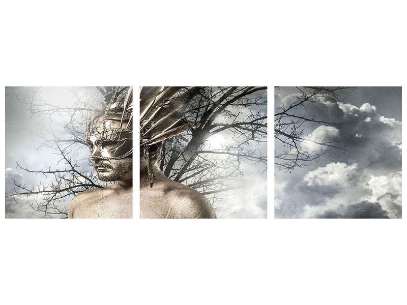 Panorama Metallic-Bild 3-teilig Gottheit
