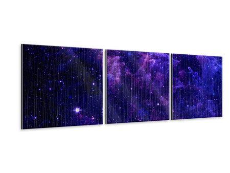 Panorama Metallic-Bild 3-teilig Ein Himmel voll Sterne