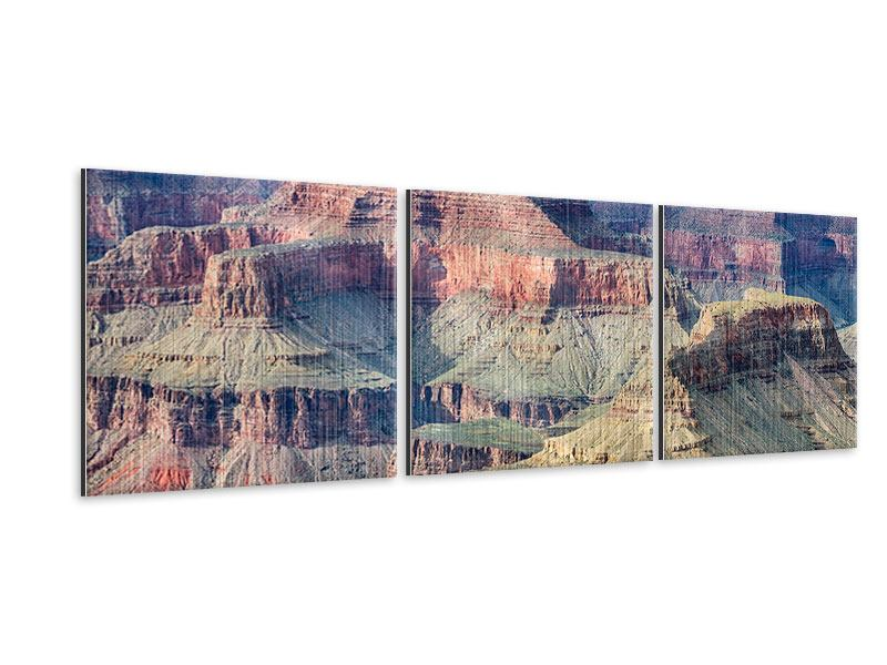 Panorama Metallic-Bild 3-teilig Gran Canyon