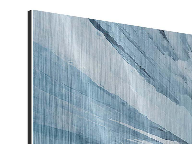 Panorama Metallic-Bild 3-teilig Eiskunst