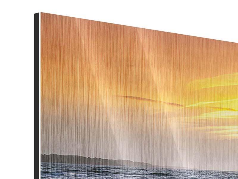 Panorama Metallic-Bild 3-teilig Das Meer