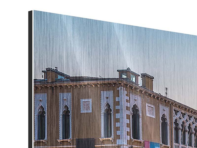 Panorama Metallic-Bild 3-teilig Romantisches Venedig