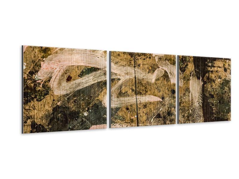 Panorama Metallic-Bild 3-teilig Writing On The Wall