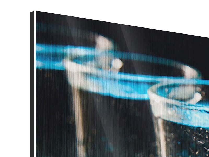 Panorama Metallic-Bild 3-teilig Wodka Pur