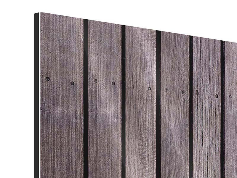 Metallic-Bild 3-teilig modern Holzwand