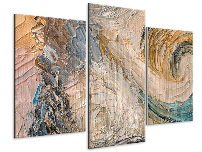 Metallic-Bild 3-teilig modern Ölgemälde
