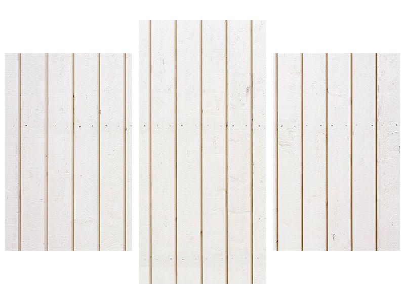 Metallic-Bild 3-teilig modern Mediterranes Holz