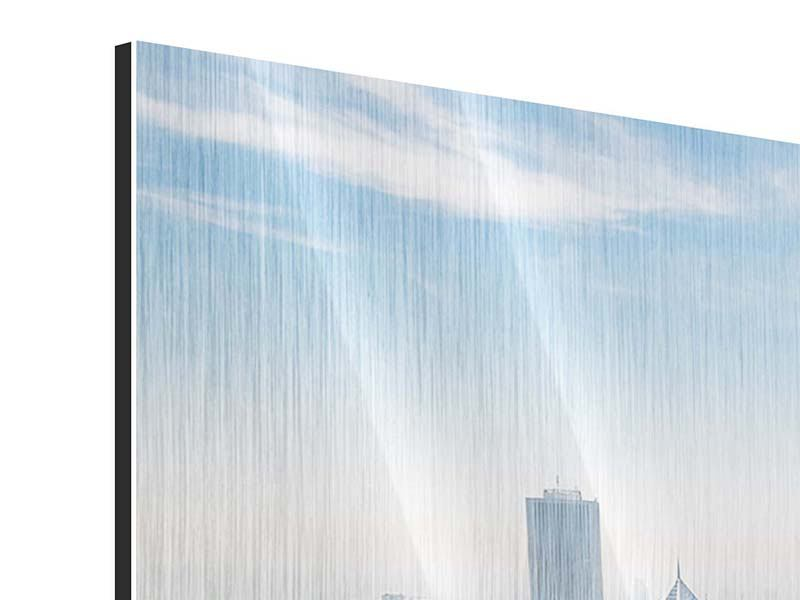 Metallic-Bild 3-teilig modern Wolkenkratzer Chicago