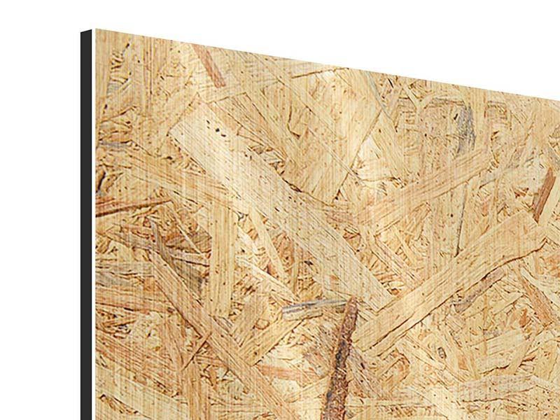Metallic-Bild 3-teilig modern Gepresstes Holz