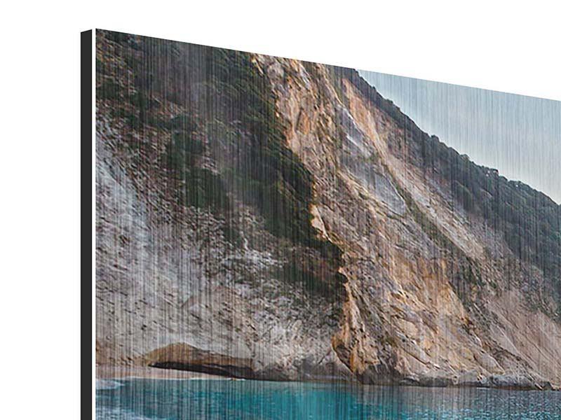 Metallic-Bild 3-teilig modern Felsen