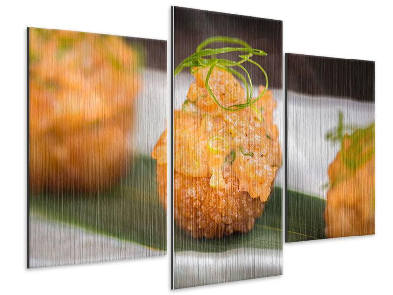 Metallic-Bild 3-teilig modern Asiatische Küche