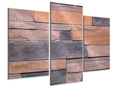 Metallic-Bild 3-teilig modern Wall