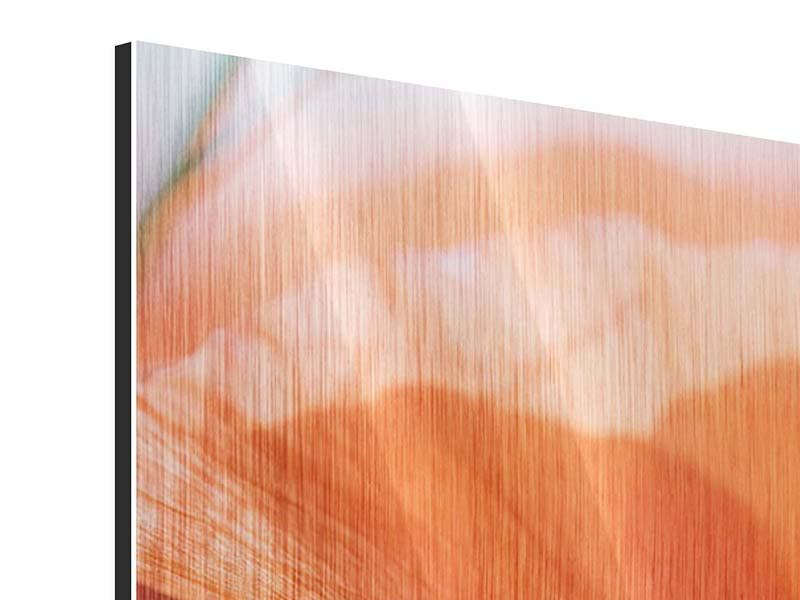 Metallic-Bild 3-teilig modern Klatschmohn XXL