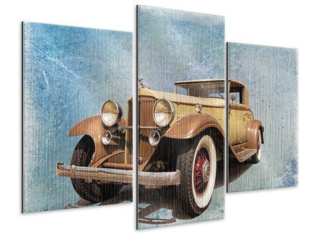 Metallic-Bild 3-teilig modern Nostalgischer Oldtimer