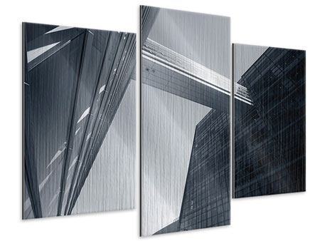 Metallic-Bild 3-teilig modern Der schwarze Diamant Kopenhagens