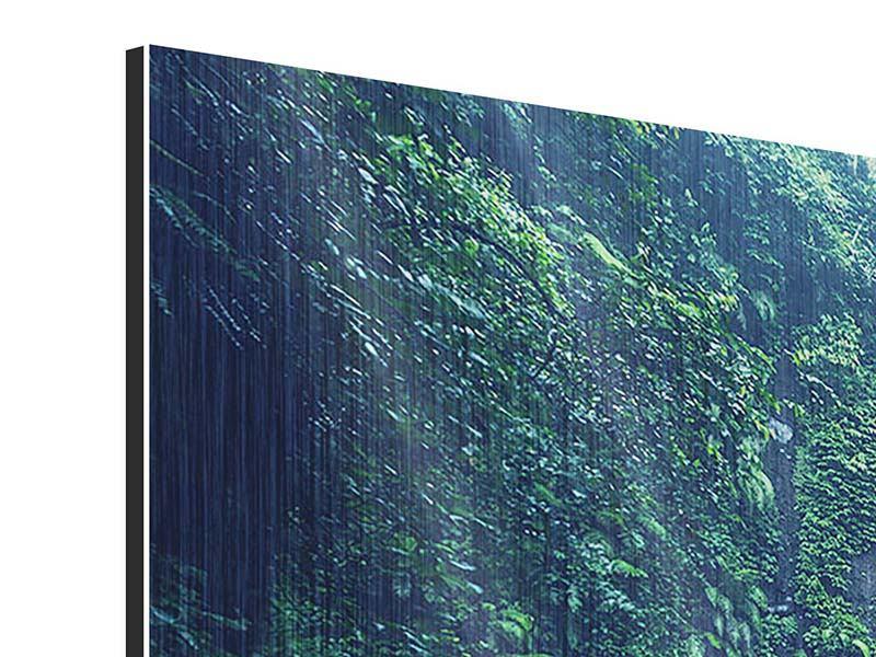 Metallic-Bild 3-teilig modern Natur
