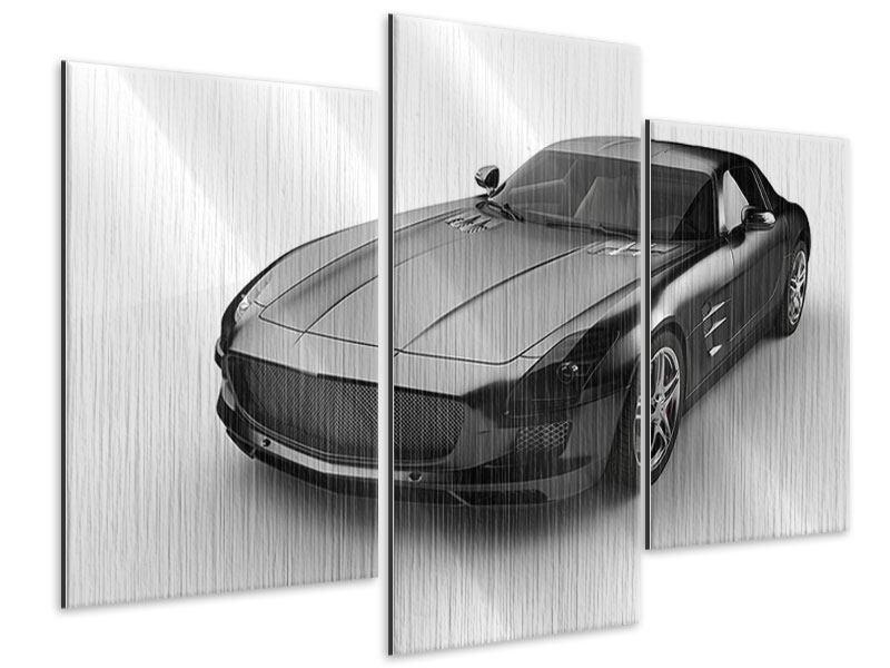Metallic-Bild 3-teilig modern 007 Auto