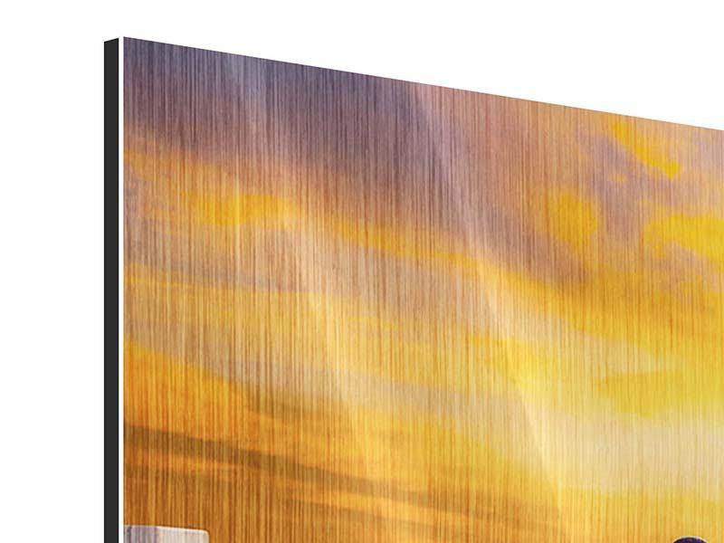 Metallic-Bild 3-teilig modern Die Brücke Ins Glück