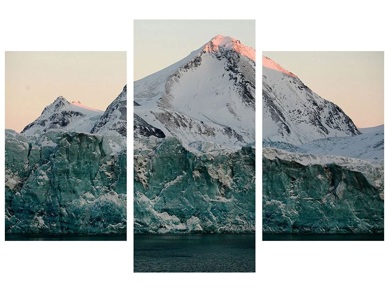 Metallic-Bild 3-teilig modern Die Antarktis