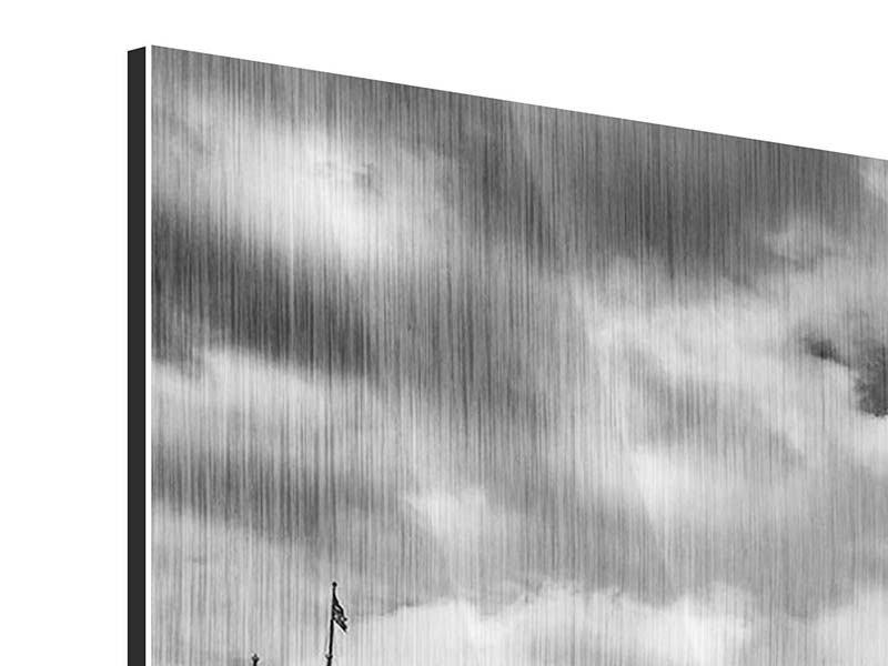 Metallic-Bild 3-teilig modern Westminster Bridge