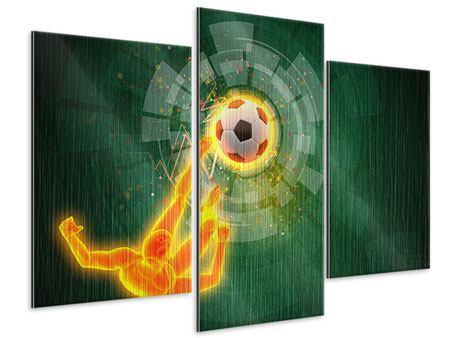 Metallic-Bild 3-teilig modern Der Kicker