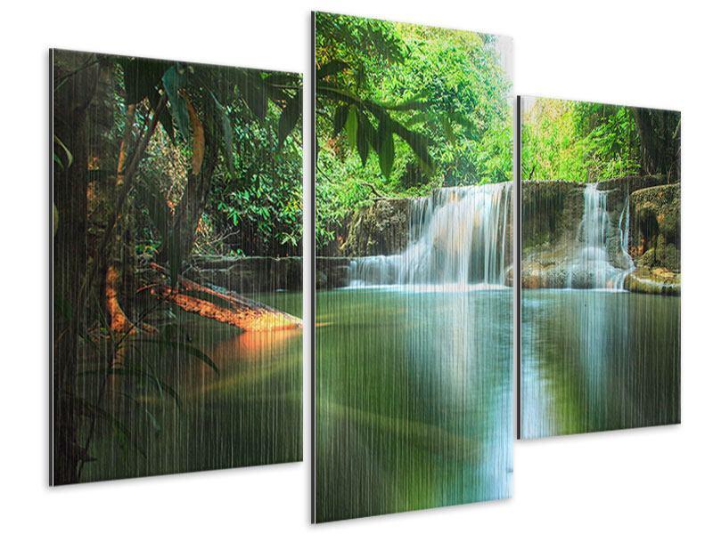 Metallic-Bild 3-teilig modern Element Wasser