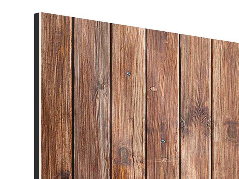 Metallic-Bild 3-teilig modern Edelholz