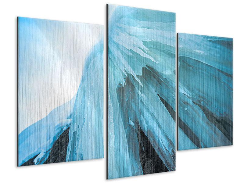 Metallic-Bild 3-teilig modern Die Eiswand