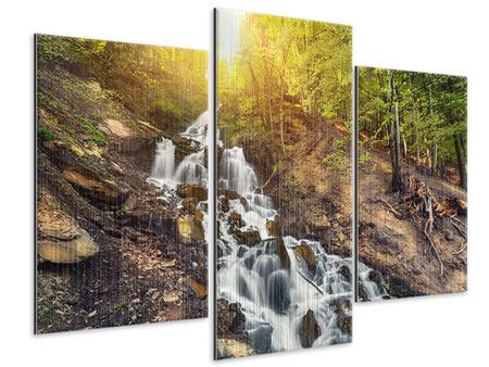 Metallic-Bild 3-teilig modern Naturschönheit