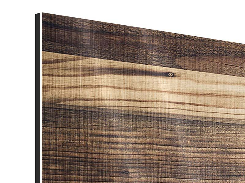 Metallic-Bild 3-teilig modern Holztrend