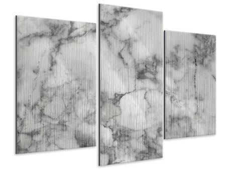 Metallic-Bild 3-teilig modern Klassischer Marmor