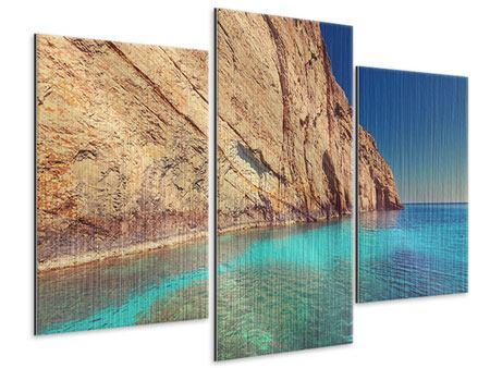 Metallic-Bild 3-teilig modern Wasser
