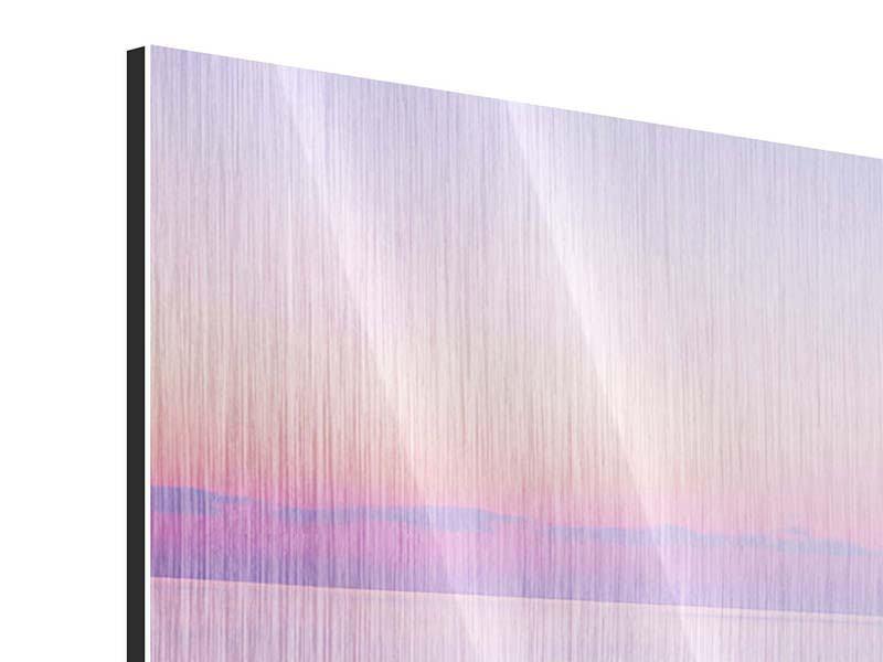 Metallic-Bild 3-teilig modern Unendlicher Ozean