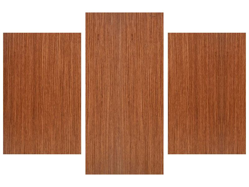 Metallic-Bild 3-teilig modern Ulme