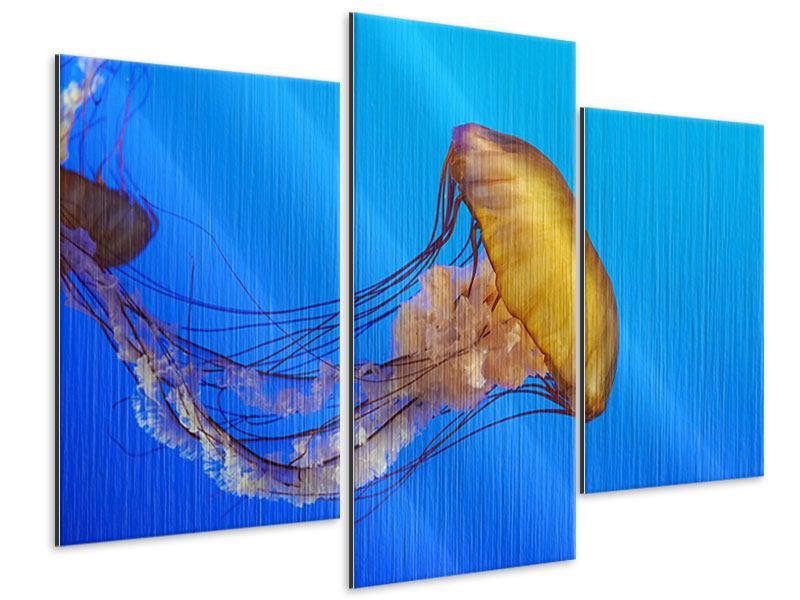 Metallic-Bild 3-teilig modern Medusa