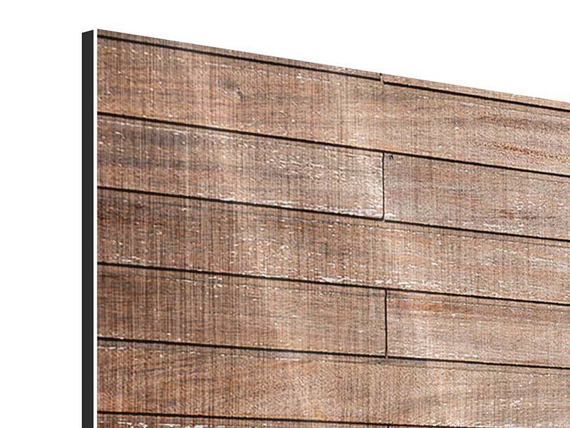 Metallic-Bild 3-teilig modern Walnuss-Paneele